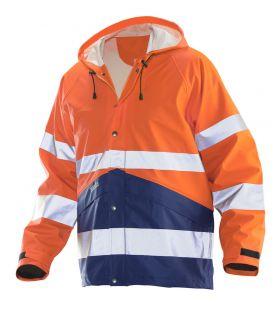 1566 Regnjakke varsel Orange/Navy