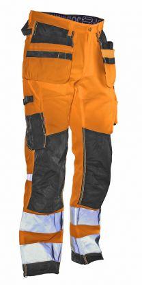2222 Håndverksbukse Star varsel Orange/Black
