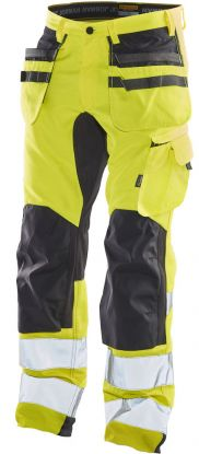 2240 Håndverksbukse Stretch Varsel Yellow/Black