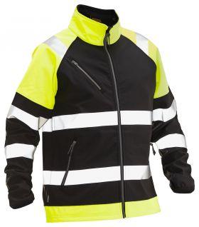 5125 Softshelljakke varsel Black/Yellow