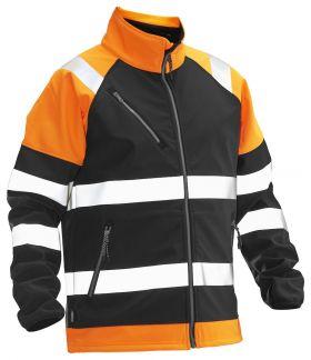 5125 Softshelljakke varsel Black/Orange