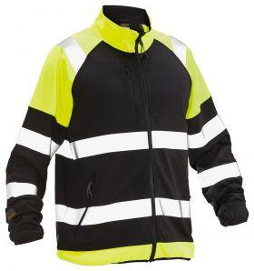 5127 Softshell Light Jakke varsel Black/Yellow