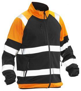 5127 Softshell Light Jakke varsel Black/Orange
