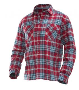 5138 Flanellskjorte Red/Blue