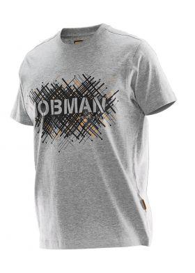 5267 T-skjorte Spike Print Grey Mélange/Black