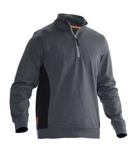 5401 Genser 1/2-zip Dark Grey/Black