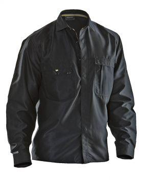 5601 Skjorte bomull Black