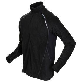 iwear FLEECE pullover 3/4 zip-Black. Outgoing style