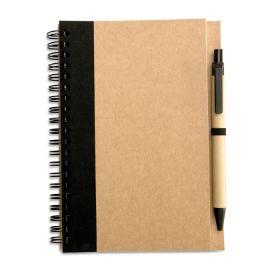Sonora plus resirkulert notatblokk med penn