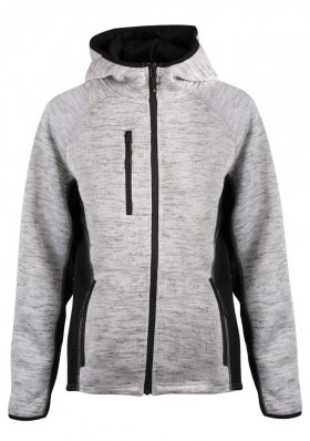 Essential hoodie women Gråmelert