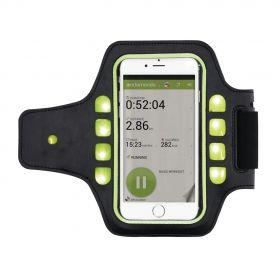 Løpearmband med telefonholder og LED-lys