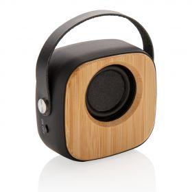 Bambus 3W trådløs høyttaler