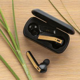Free Flow TWS-øretelefoner i bambus med etui