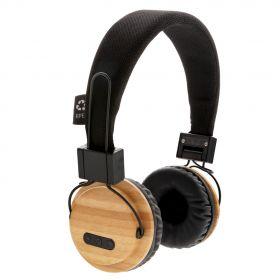 Bambus trådløs hodetelefon