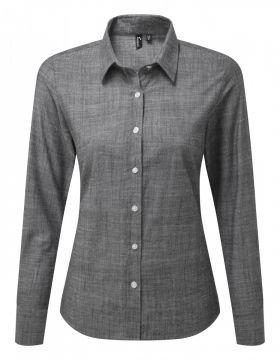 Slub Chambray Shirt L/S (D) Grå