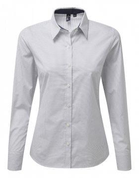 Denim Pindot Shirt L/S (D) Prikket