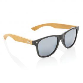 Hvetestrå og bambus solbriller Svart