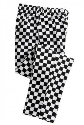 Essential Chef's Trouser Sort/Hvit Rutet