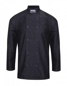 Denim Chef's Jacket Black Denim