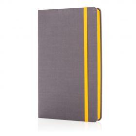 Deluxe notatbok med fargede kanter