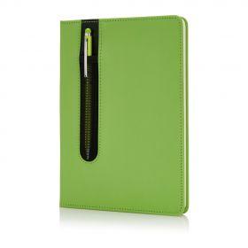 Basic A5 notatbok med hardcover og stylus penn