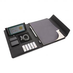 Fiko trådløs A4 ladeportfolio med powerbank