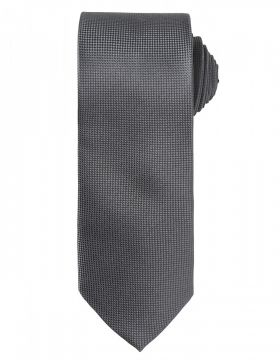 Micro Waffle Tie Dark Grey