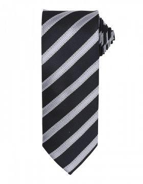 Waffle Stripe Tie Sort/Mørk Grå