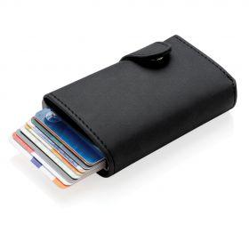 Standard aluminium RFID kortholder med PU lommebok
