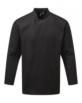 Essential Chefs Jacket L/S Sort
