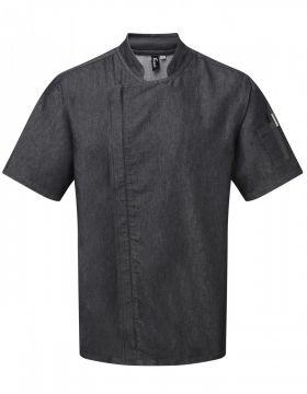 Chefs Zip Close Jacket Black Denim