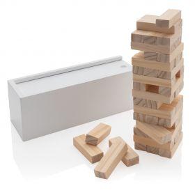 Deluxe fallende tårn treblokk stablespill