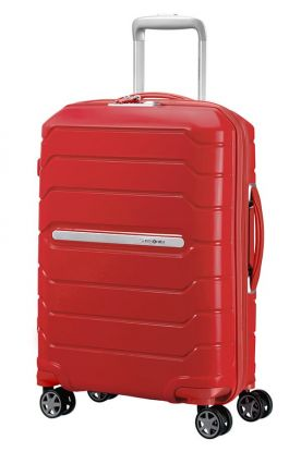 Flux Utvidbar koffert 4 hjul 55cm Rød
