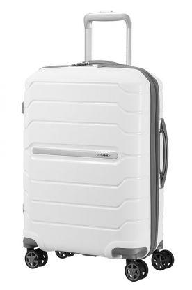 Flux Utvidbar koffert 4 hjul 55cm Hvit